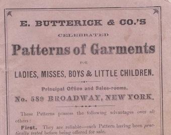 PDF Reproduction - circa 1868 - Butterick Pattern Catalog