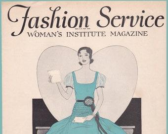 PDF Reproduction - 1930 - February Fashion Service Magazine - Woman's Institute