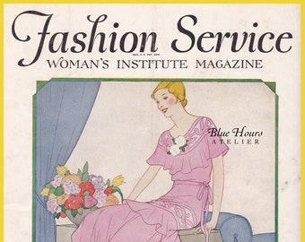 PDF Reproduction - 1930 - March (Spring) Fashion Service Magazine - Woman's Institute