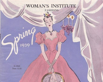 PDF Reproduction - 1939 Spring Woman's Institute Fashion Service Booklet