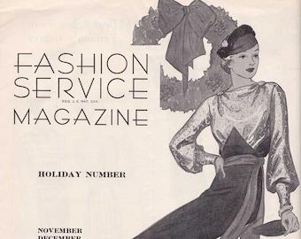 PDF Reproduction - 1934 November December - Fashion Service - Woman's Institute