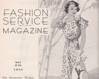PDF Reproduction - 1935 May June Fashion Service - Woman's Institute