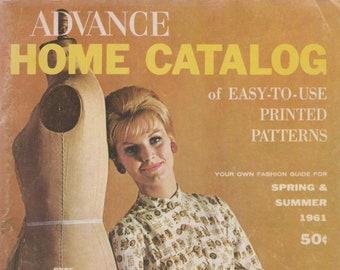 PDF Reproduction - 1961 Advance Pattern Catalog - Women's 1960s Fashions - Midcentury Modern Fashion Midcentury Illustrations