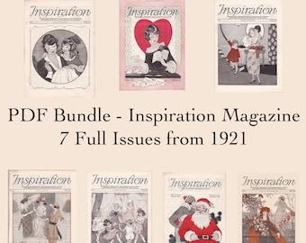 PDF Bundle - 1921 Inspiration Magazine - Seven Issues - Woman's Institute Fashion Inspiration - PDF Download