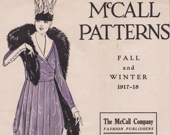 PDF Reproduction - 1917-1918 Fall and Winter - McCall Pattern Catalog Booklet - 1910s Fashion Titanic Era WW1
