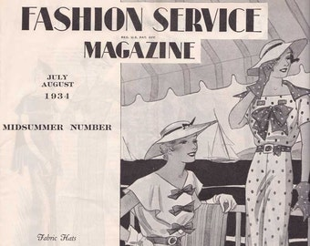 PDF Reproduction - 1934 July August Fashion Service - Woman's Institute