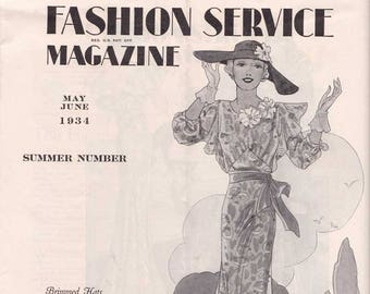 PDF Reproduction - 1934 May June Summer Number Fashion Service - Woman's Institute