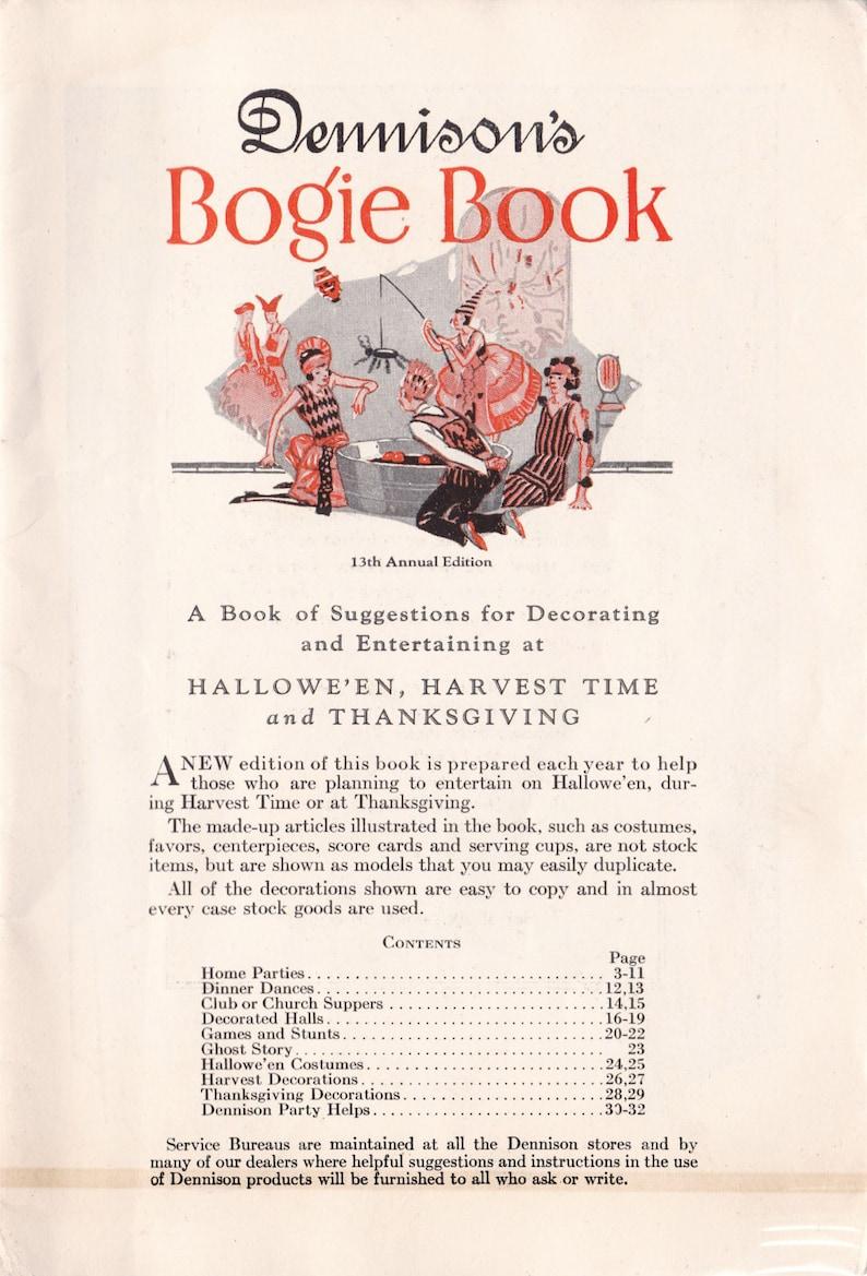 PDF Reproduction - 1925 - Dennison's Bogie Book - Vintage Halloween