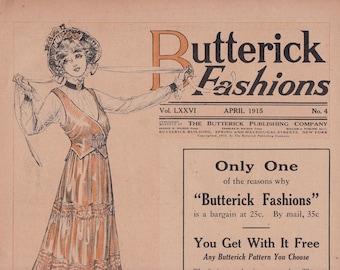 PDF Reproduction - 1915 April - Butterick Pattern Catalog Booklet - 1910s Fashion Titanic Era