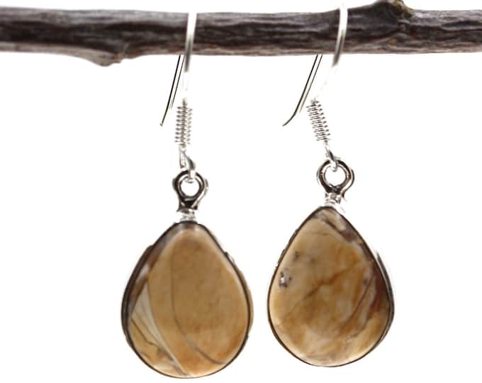 Brecciated Mookaite 925 SOLID Sterling Silver Earrings E115