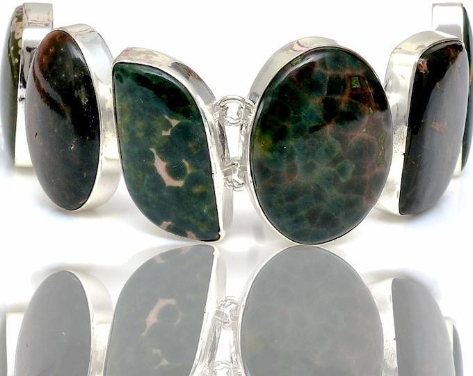 Madagascar Ocean Jasper Genuine Gemstone Bracelet B4409