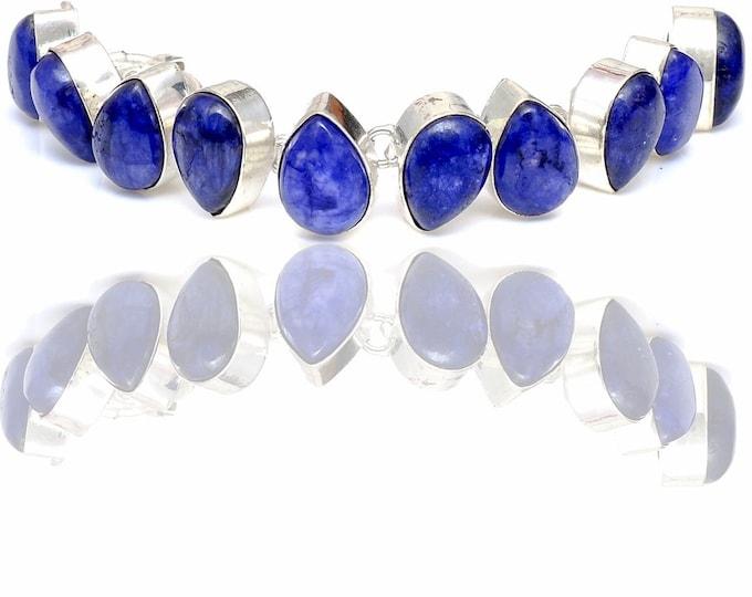 Polished Sapphire Genuine Gemstone Bracelet B4432
