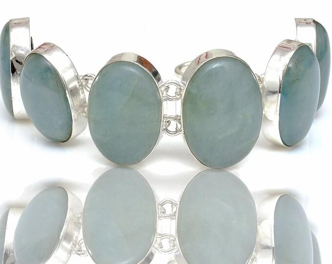 Aquamarine Genuine Gemstone Bracelet B4415