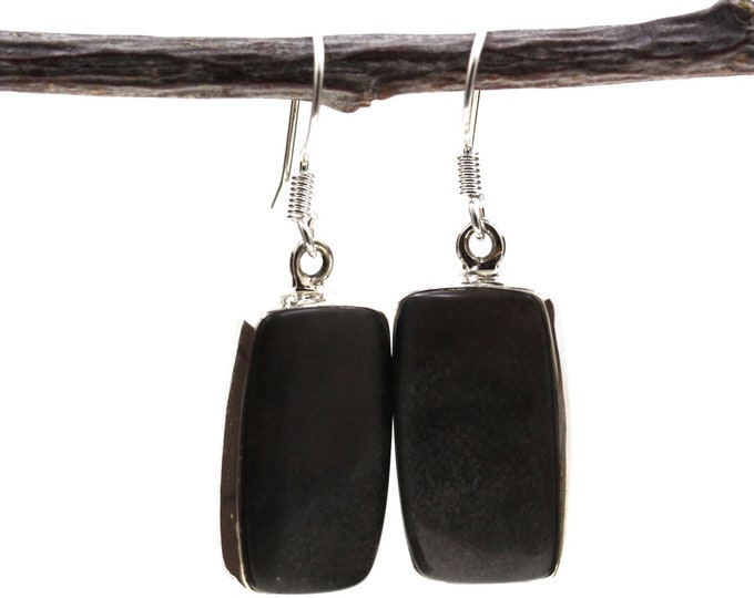Hypersthene 925 SOLID Sterling Silver Earrings E109
