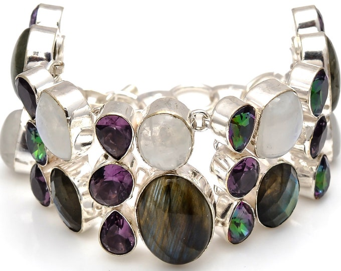 Moonstone Labradorite Bracelet B3750