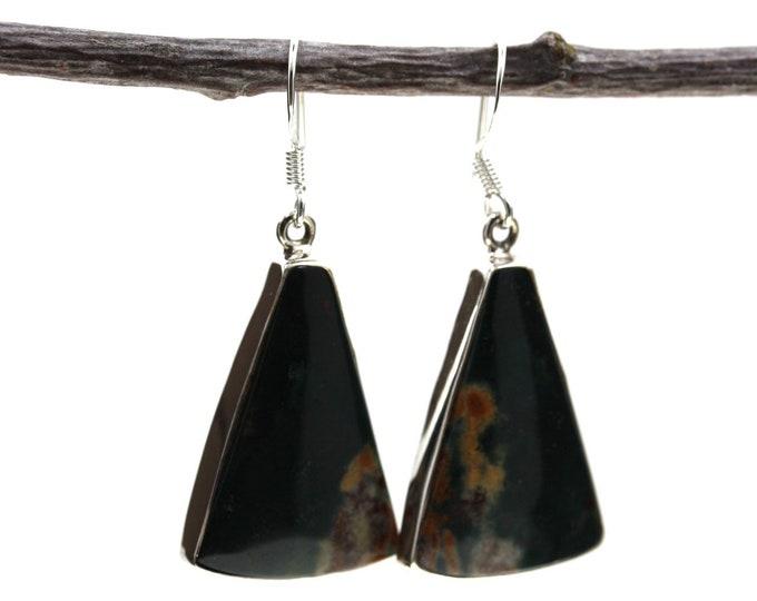 Ocean Jasper 925 SOLID Sterling Silver Earrings E79