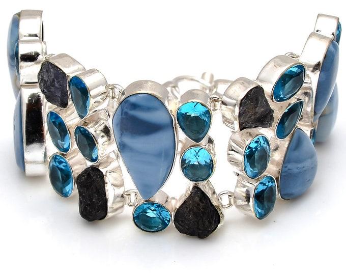 Owhyee Opal Tanzanite Bracelet B3748