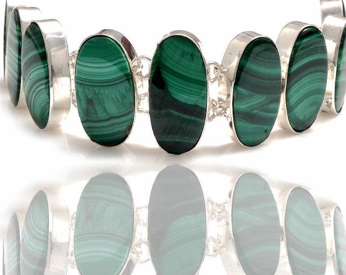 Canadian Malachite Genuine Gemstone Bracelet B4295