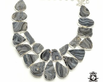 Multi-Layered DESERT DRUSY DRUZY 925 Sterling Silver + Copper Bonded Necklace & Worldwide Express Tracked Shipping N6118