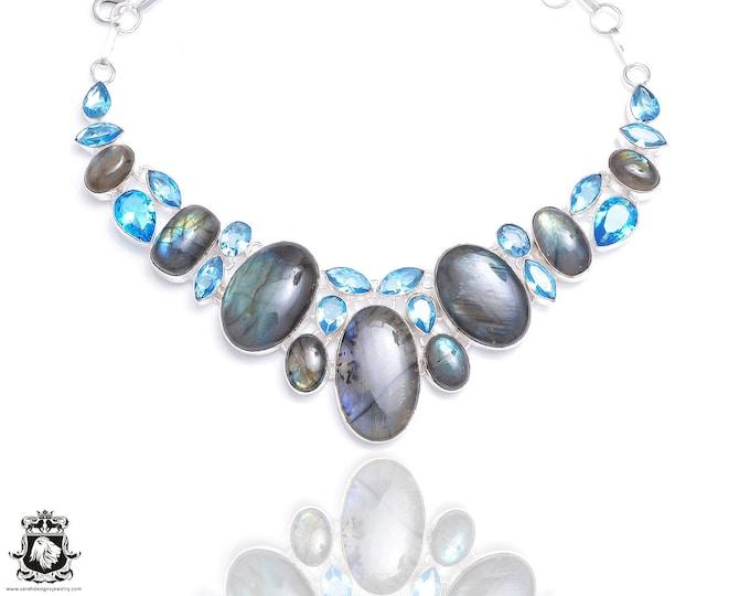 Labradorite Blue Topaz Necklace NK83
