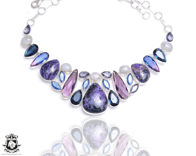 Charoite Amethyst Iolite Necklace NK71