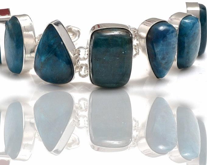 Genuine Apatite Genuine Gemstone Bracelet B4260