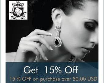 Spend US50 on Regular Priced Items at SarahDesignsJewelry and get 15% off your order at checkout.