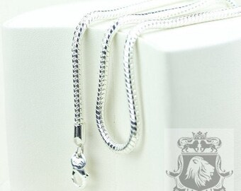 4MM In Stock! 2MM/3MM /4MM SNAKE CHAIN-16/18/20/22/24/26/28/30 Inches. USPS First-Class Mail® 4 days Tracking Same Day order processing