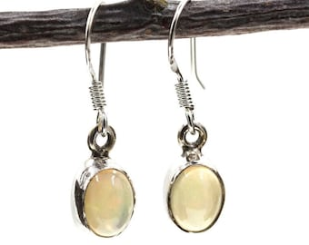 Deal of the Century! REAL Ethiopian Welo Opal (NOT Synthetic resin or Plastic) 925 SOLID Sterling Silver Earrings E107