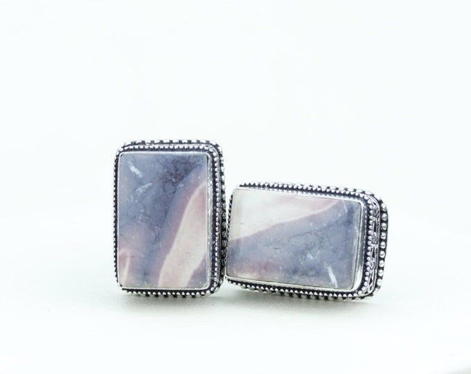 Utah Mined BERTRANDITE Tiffany Jasper Vintage Filigree Antique 925 Fine S0LID Sterling Silver Men's / Unisex CUFFLINKS K527