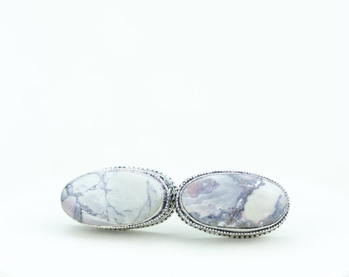 Utah Mined BERTRANDITE Tiffany Jasper Vintage Filigree Antique 925 Fine S0LID Sterling Silver Men's / Unisex CUFFLINKS K544