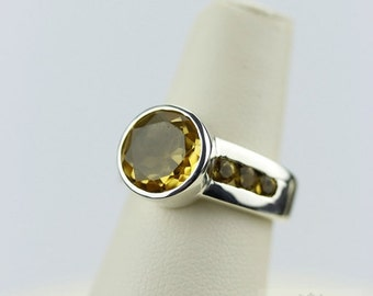 SIZE 6.5 BRAZILIAN CITRINE (Nickel Free) 925 Fine Sterling Silver Ring & Free Worldwide Express Shipping r98