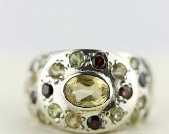 SIZE 5.5 CITRINE GARNET (Nickel Free) 925 Fine Sterling Silver Ring & Free Worldwide Express Shipping r91