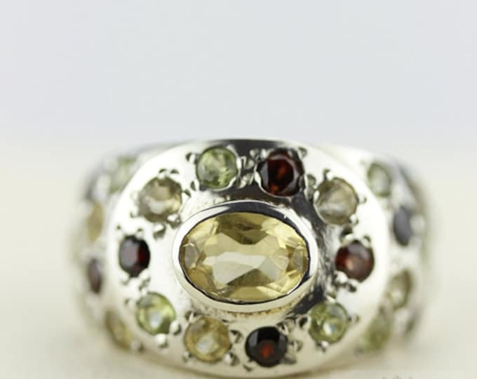 SIZE 5.5 CITRINE GARNET (Nickel Free) 925 Fine Sterling Silver Ring & Free Worldwide Express Shipping r91