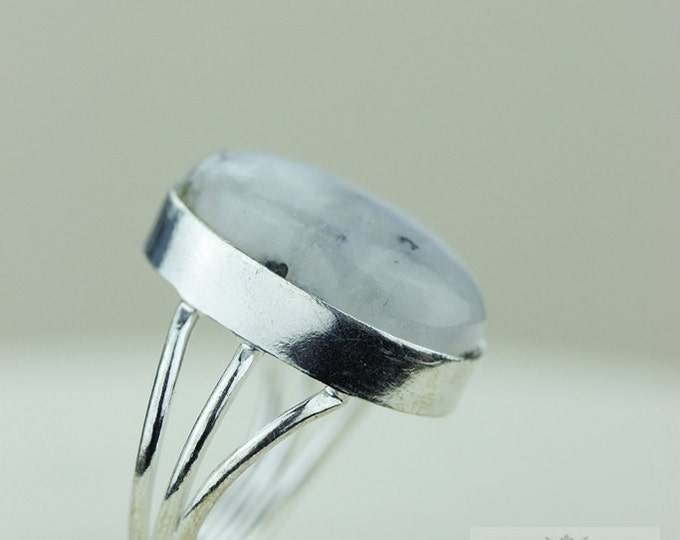 SIZE 8 - 925 S0LID (Nickel Free) Sterling Silver Wide Band Setting Ring & FREE Worldwide Express Shipping R1701