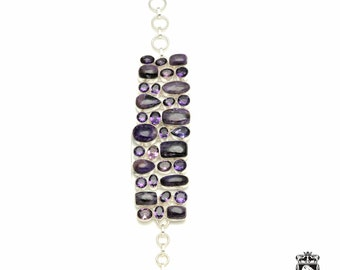 Blast of Purple! CHAROITE Amethyst 925 Sterling Silver + Copper Bonded Bracelet & Worldwide Express Tracked Shipping B3336