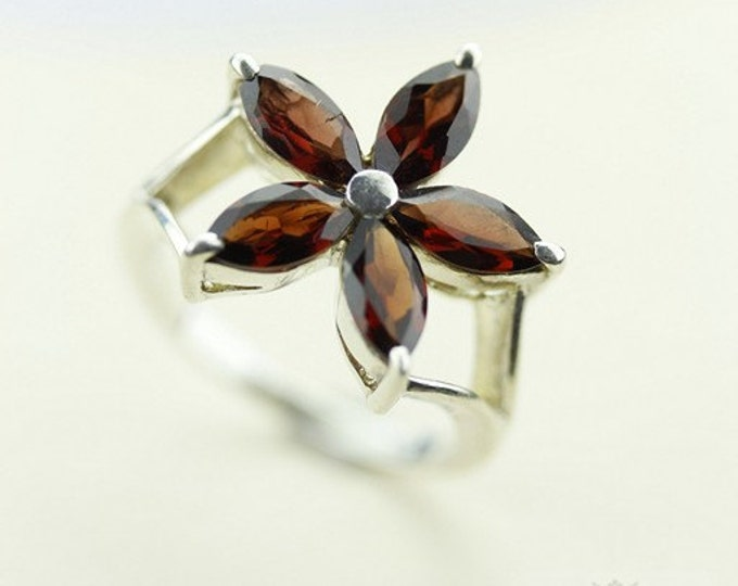 SIZE 6.5 GARNET 925 ITALIAN Setting (Nickel Free) 925 Fine Sterling Silver Ring & Free Worldwide Express Shipping r39