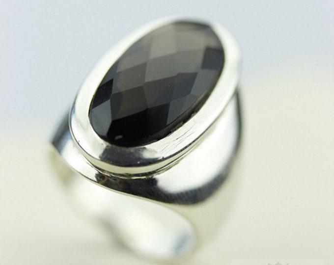 Size 6.5 SMOKEY SMOKY TOPAZ (Nickel Free) 925 Fine Sterling Silver Ring & Free Worldwide Express Shipping r62