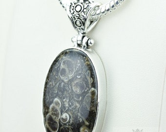 Turtella Jasper 925 S0LID Sterling Silver Pendant + 4MM Snake Chain  p3586
