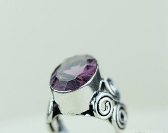 SIZE 6 MYSTIC Topaz 925 S0LID (Nickel Free) Sterling Silver Vintage Setting Ring r1766