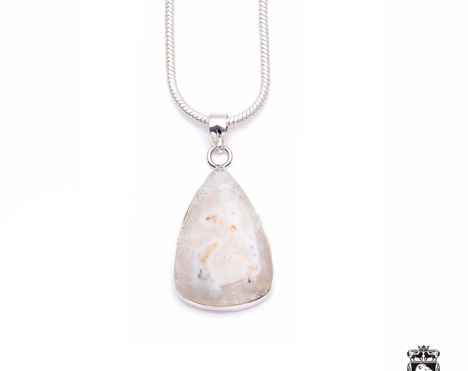 Stalactite Fine 925+ 975 S0LID Sterling Silver Pendant + Snake Chain P6252