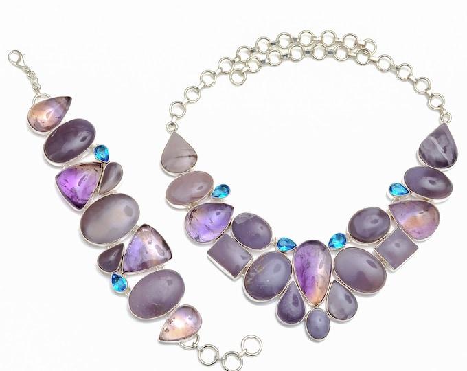 Morado Opal Ametrine Necklace Bracelet SET1085