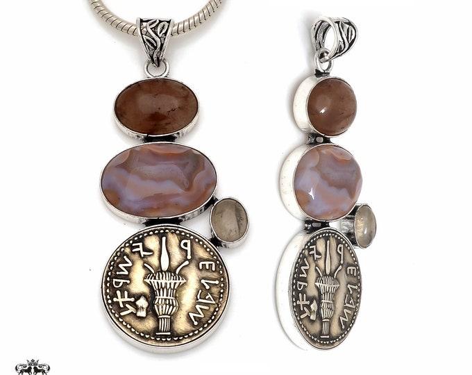 Kyme in Aeolis Reissued Greek Coin Pendant 4MM Italian Snake Chain P8633
