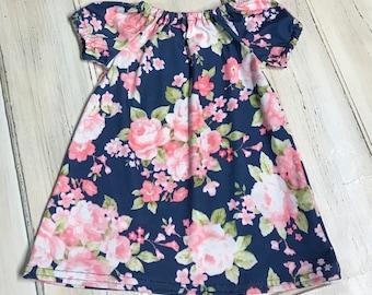 Baby Summer Dress, Baby Dress, Girl Dress, Toddler Dress, Floral Dress