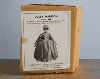 Vintage Dolly Madison Porcelain Doll Kit - Yield House