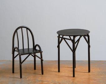 Miniature Iron Chair Etsy