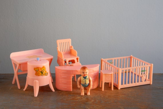 Renwal Ideal Plasco Pink Nursery Furniture And Baby 1 16 Etsy