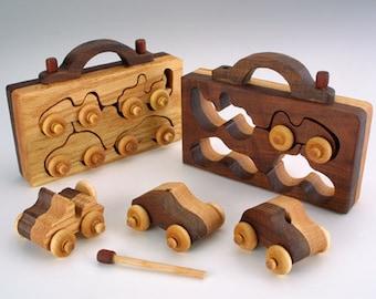 4-Pack Wooden Toy Handmade, Waldorf Toys, Montessori Toys, Wooden Toys