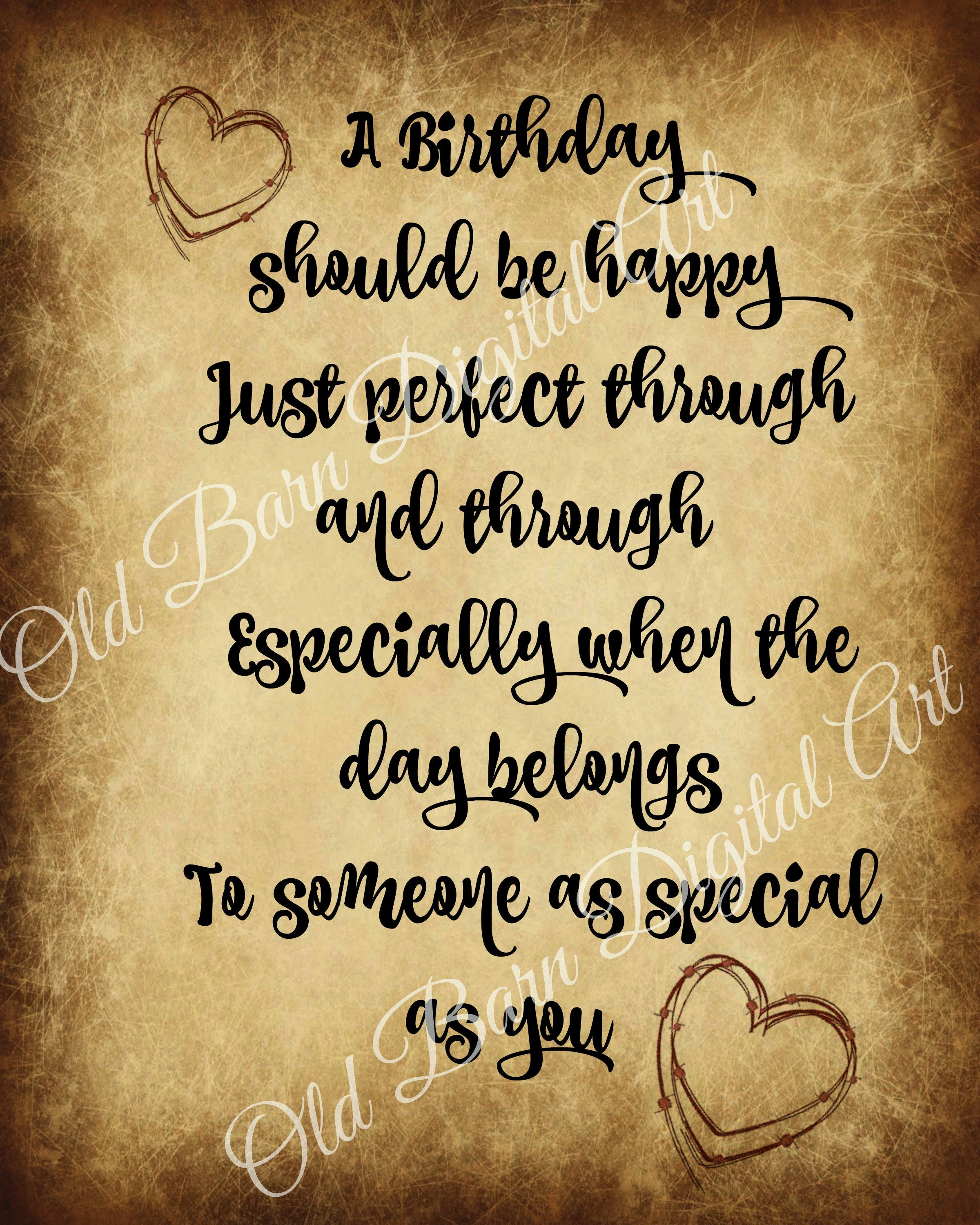 Pantry Label Happy Birthday Greetings Special Bday Jar Candle Etsy