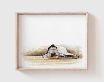 Original 12x12 Upcycled Mixed Media Barn Art Ready to Hang Harllee Barn Reclaimed